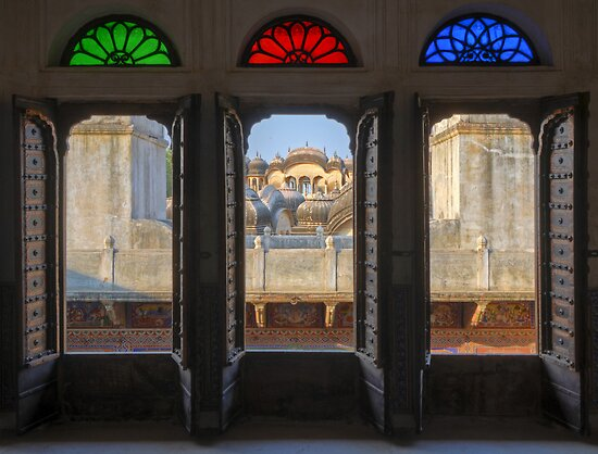 Through a haveli window by Peter Hammer