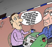 Hugo Chavez Wall Street and Iran opinion comic by Binary-Options