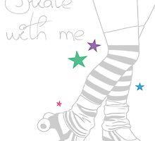 Skate Legs Print by KustomByKris