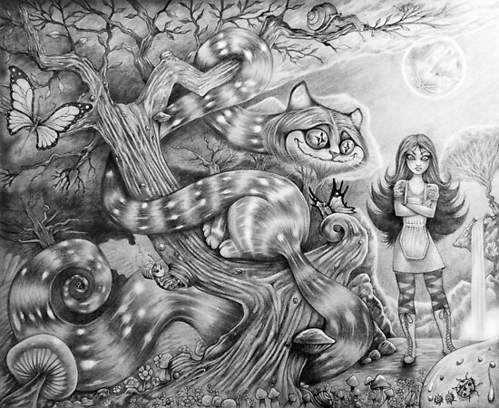 Alice and the Cheshire Cat by Wil Zender