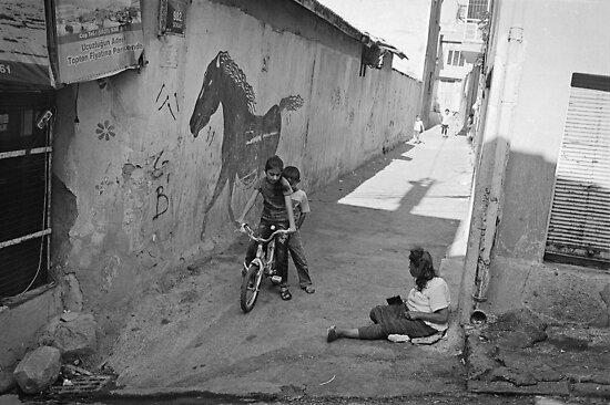 Streets of Kadifekale Neighborhood in Izmir, Turkey by Ilker Goksen