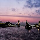 London at dawn - 3 by Barry Robinson