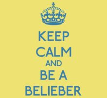 Keep Calm and be a Belieber (Cyan) by OhMyDog