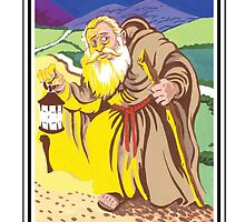 The Fool's Tarot - Hermit by bruce baillie