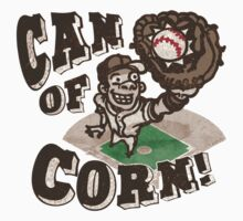 Can of Corn Baseball Player Kids Clothes