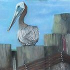 Pelican at Hatteras Ferry by cathycnyrs