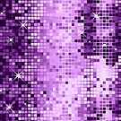 Purple Metallic Sequence Look Geometric GlitterPattern by artonwear