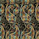Colorful Elegant Vintage Ornate Paisley Design by artonwear