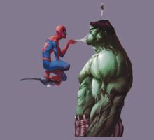 Spiderman webs Hulk  by jrlkrudco