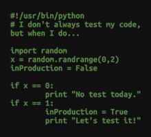 I don't always test my code... by clockworkpc