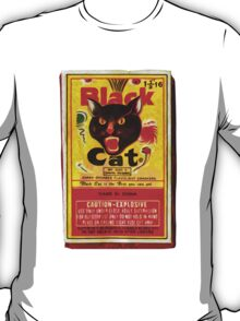 Black Cat Fireworks T-Shirt T-Shirt