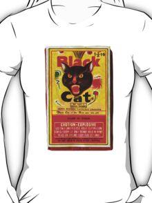Black Cat Fireworks T-Shirt T-Shirt