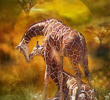 Giraffe World by Carol  Cavalaris
