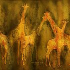 Moods Of Africa - Giraffes by Carol  Cavalaris