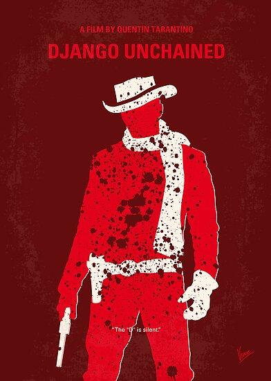 No184 My Django Unchained minimal movie poster by Chungkong
