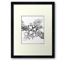 Number One Box - Sketch Pen & Ink Illustration Art Framed Print