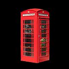 Red Telephone Box iPad by Catherine Hamilton-Veal  