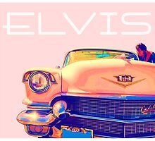 Elvis Presley Pink Cadillac by Edward Fielding