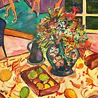 Fruit and Vase on Table by artqueene