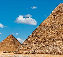 Khafre & Cheops Pyramids. by bulljup