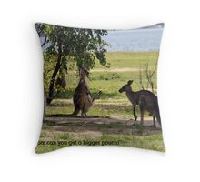 Bigger pouch mom Throw Pillow