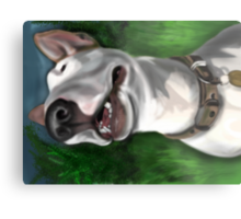 Lola English Bull Terrier Painting 2 Metal Print