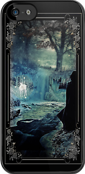 "I-phone case ""The Silver Doe"" - framed by scatharis"