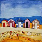 Beach Huts by samcannonart