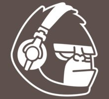 Grumpy Gorilla with Headphones Kids Clothes