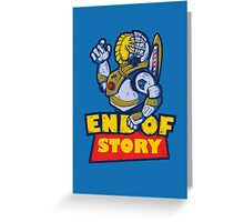 END OF STORY Greeting Card