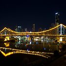 Story Bridge reflected in Brisbane River by Peter Doré