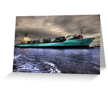 Rotterdam Harbor in and out Greeting Card