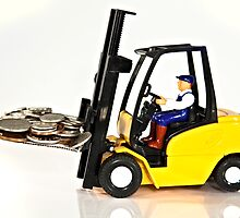 Forklift and Money by Norma Cornes
