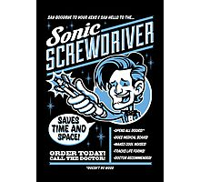 Sonic Screwdriver Ad Photographic Print