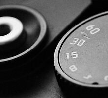 Leica M6TTL Shutter speed dial, and shutter release by Jip van Kuijk