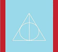 The Deathly Hallows (In Blue) by PiranhaCakes