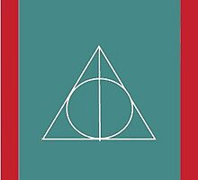 The Deathly Hallows (In Teal) by PiranhaCakes