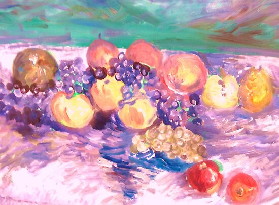 The Joy of Fruit by artqueene