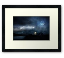 The Moon Touches Your Shoulder Framed Print