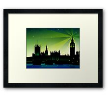 London Big Ben and house of parliament Framed Print