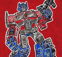 Optimus Prime Transformers Autobot Leader by Matt Molleur