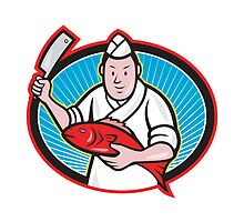 Japanese Fishmonger Butcher Chef Cook  by patrimonio