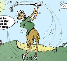 Obama caricature joue du golf by Binary-Options