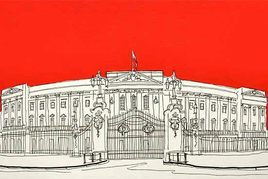 Buckingham Palace ( Orange ) by Adam Regester