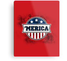 'MERICA T-Shirt. America. Jesus. Freedom. - The Campaign Metal Print