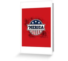'MERICA T-Shirt. America. Jesus. Freedom. - The Campaign Greeting Card