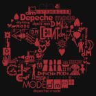Depeche Mode : DM Logo 2013 - With old logo 2 - Red by Luc Lambert