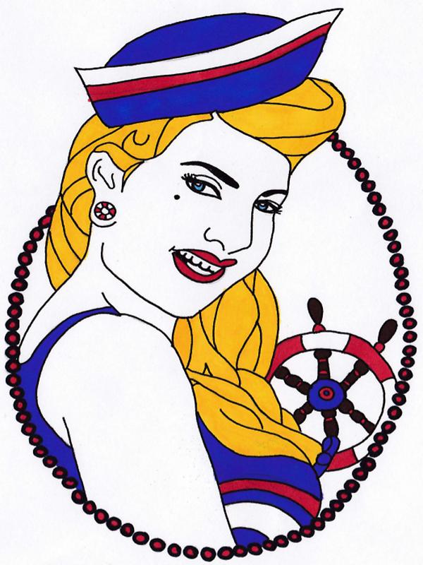 sailor girl pin up by coatestd01