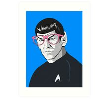 Pop Art Spock Star Trek  Art Print
