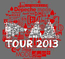 Depeche Mode : Tour Logo 2013 - With old logo  by Luc Lambert